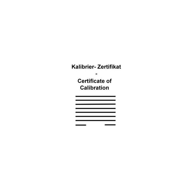 Calibration Certificate for Pt100 Temperature Probe