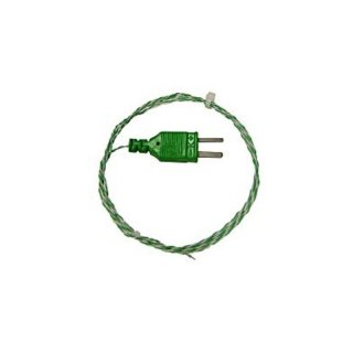 Thermocouple Type K, 2m PTFE Insulated Leads, Exposed Junction, Plug,  -75 to +250°C